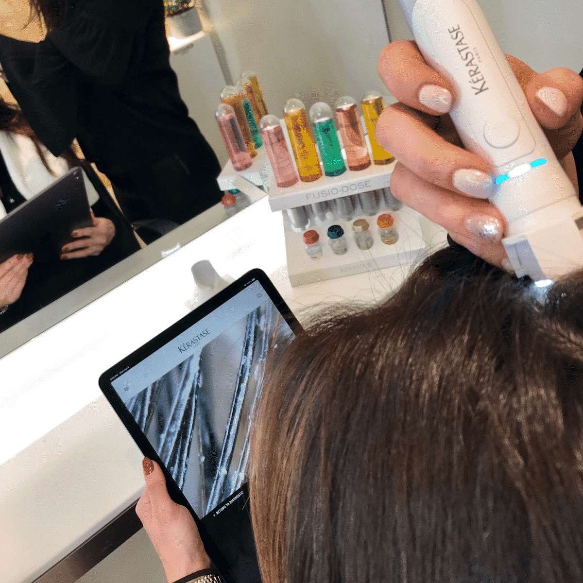 Kerastase hair diagnosis tool and app