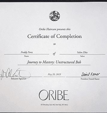 oribe hair styling diploma