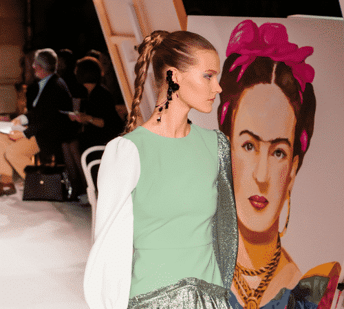 new york fashion week Christian Siriano fashion show braided hair