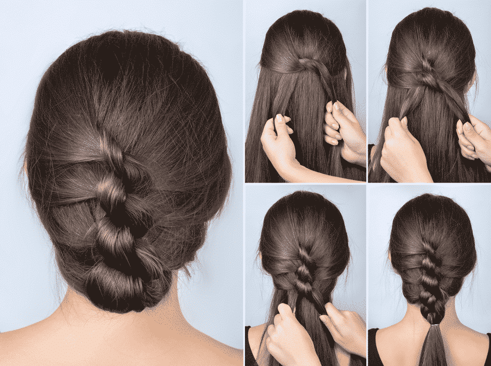 twisted braid hair tutorial mosaic
