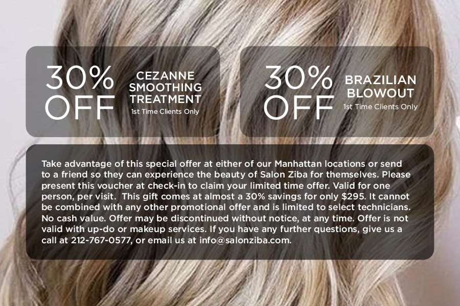 30% Hair Smoothing Treatments: Limited Time Special